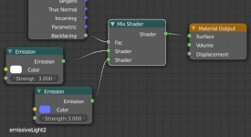 Blender Settings for Cycles Emission node setup 3