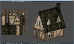 Farm house model and UV