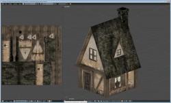 Small farm house model and UV