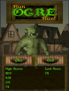 Run OGRE Run - Main menu