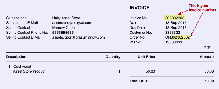 how to create an asset invoice