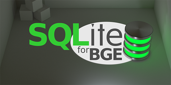 SQLite for Blender Game Engine feature image